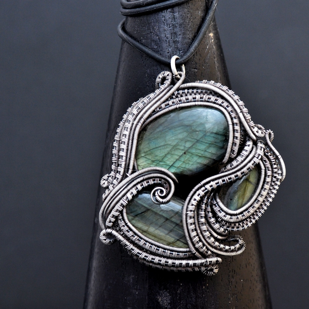 silver jewelry, wire wrap jewelry, wire weaving, handcrafted, whimsical, bohemian, art jewelry, wearable art